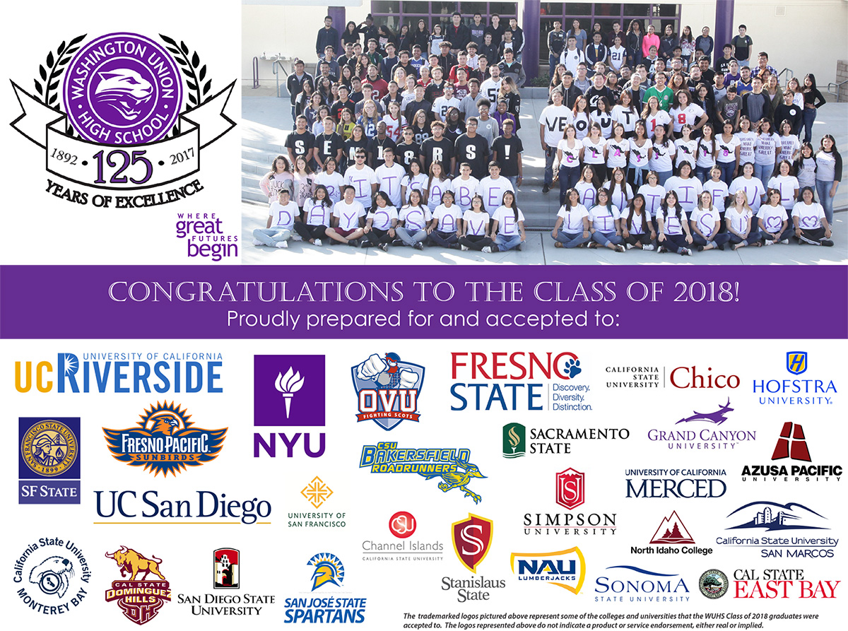 Congratulations to the WUHS Class of 2018