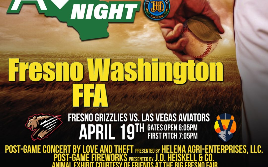 Fresno Washington FFA Partners with Fresno Grizzlies for Fundraiser