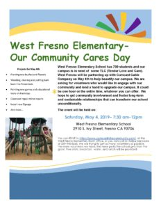 WFES Comcast Community Cares Day Flyer