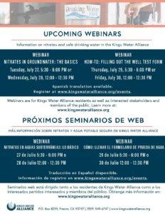 Webinar Series – Nitrate workshops for domestic well users